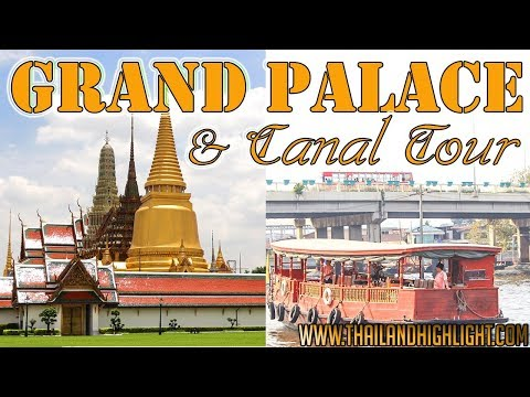 Grand Palace Tour + Canal Tour Bangkok Sightseeing Tour Thailand