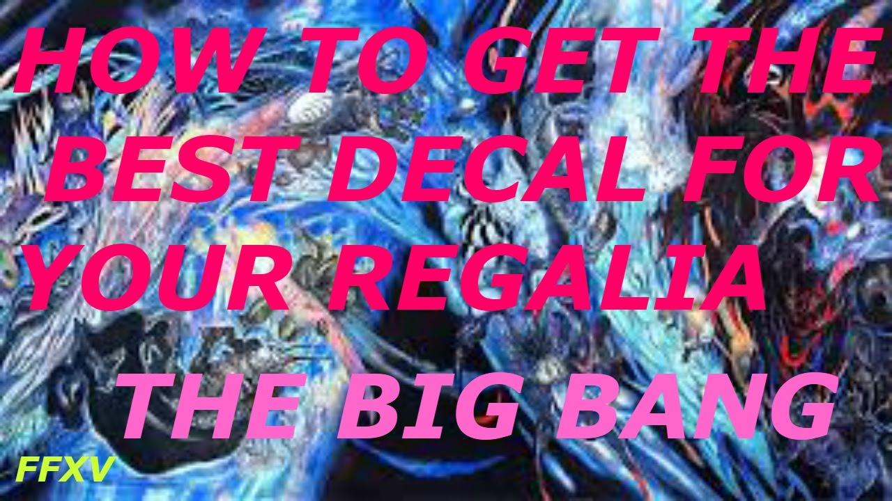 Final Fantasy Xv Best Car Decal Big Bang Youtube