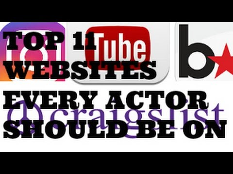 Top 11 Websites Every Actor Should Be On