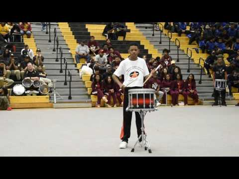 Aycock Middle School (Caleb Artist) Snare Solo @ Highland Springs 2017