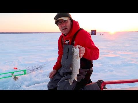 Ice Fishing For Lake Trout : Higgins Lake Michigan