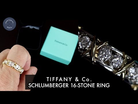 Tiffany Co Schlumberger 16 18 Stone Diamond Ring Unboxing Men S Try On Youtube