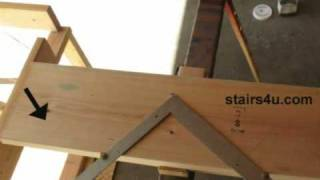 Stair Stringer Layout And Last Step Tip - Building Stairways
