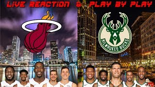 NBA Live Stream: Miami Heat Vs Milwaukee Bucks Game 2 (Live Reactions & Play By Play)
