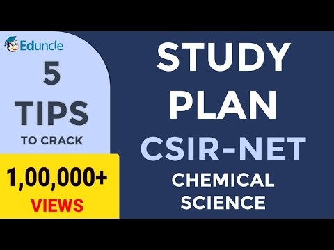 5 Tips to Crack CSIR NET Chemical Science - (FINAL) Study Plan