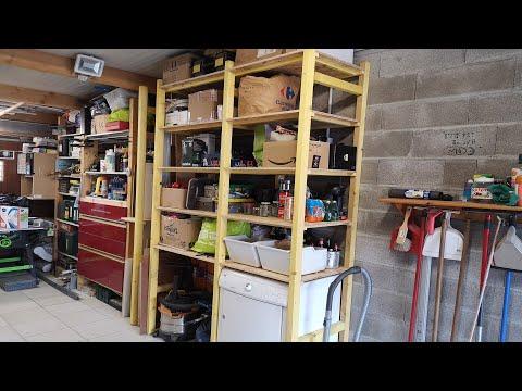 Fabriquer une étagère d'atelier sur mesure