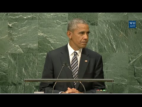 Obama's  Last Address To United Nations- Full Speech On Human Rights