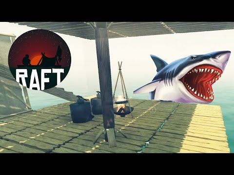SHARK ATTACK SIMULATOR Survive on an Expandable Raft While Being Attacked by Sharks - Raft Gameplay