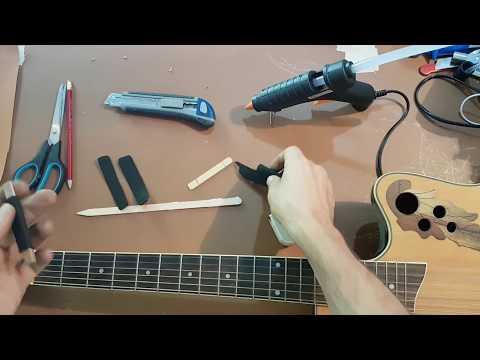 Gitar Kelepçesi Kapo Capo Nasıl Yapılır. Kendi Kaponuzu Yapın. DIY Capo
