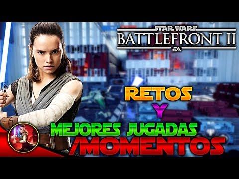 RETOS y las MEJORES JUGADAS de Star Wars Battlefront 2 - EA - DICE - español - ByOscar94 thumbnail