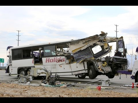 Tour bus crash in southern California kills 13 people