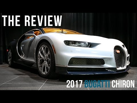 An Overview of the 2017 Bugatti Chiron in Liquid Silver with Exposed Blue Carbon