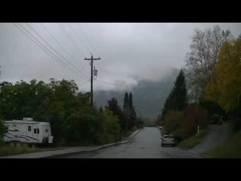 Nelson BC Canada - Driving in the City - British Columbia Small Town