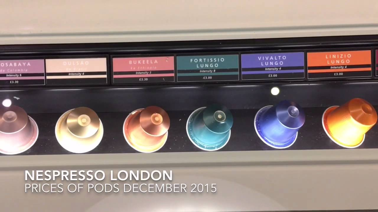 nespresso pods london flagship store prices