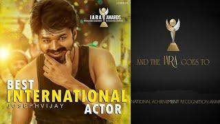 Thalapathy Vijay Wins Best International Actor Award AT IARA London | Joseph Vijay | Mersal | IARA