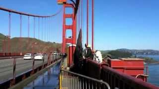 Painting Golden Gate Bridge. San Francisco.