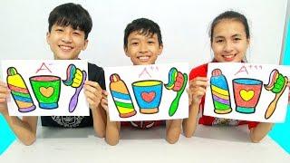 Toothpaste Brush Set, Warna Warni Belajar Menggambar dan Mewarnai untuk Anak