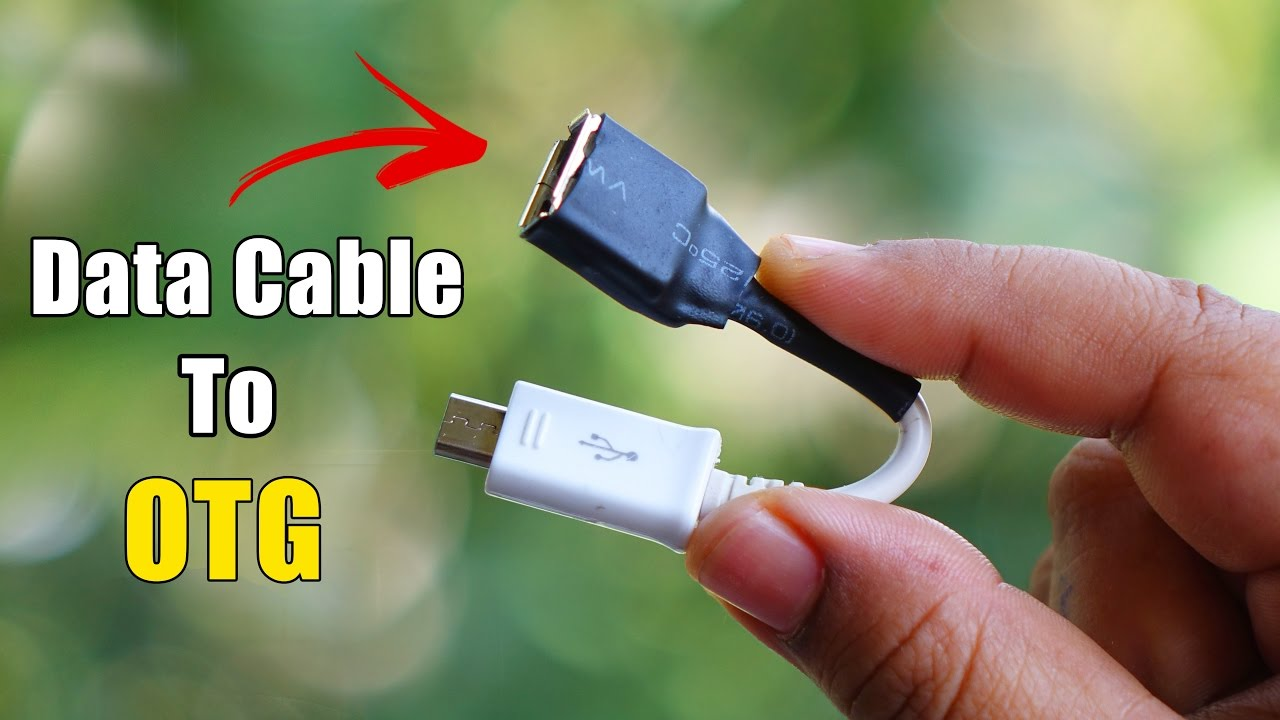 turn any data cable into otg cable how to make otg cable [ 1280 x 720 Pixel ]