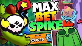 LEGENDARY SPIKE MAX BET IN BIG GAME! | Brawl Stars | 1000 BRAWL BOX TOKENS IN ONE GAME
