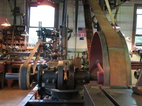 OLD STEAM POWERED MACHINE SHOP 44 slide valve & steam whistle