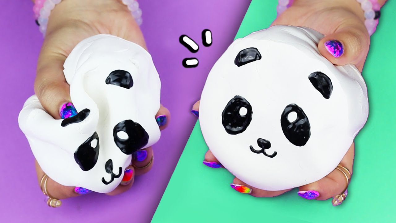 DIY Panda SQUISHY   MAKE YOUR OWN SQUISHIES! - YouTube