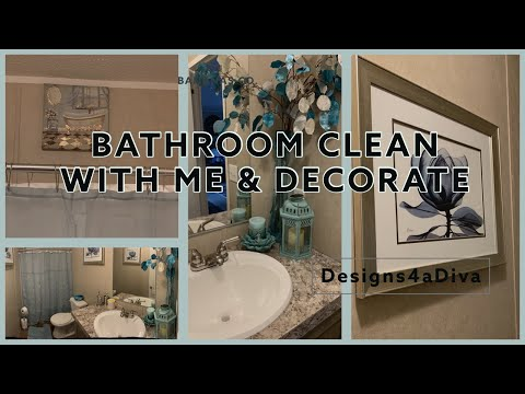 MOBILE HOME DECORATING | BATHROOM CLEAN WITH ME & DECOR