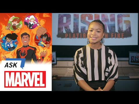 Navia Robinson answers YOUR Marvel Rising Questions | Ask Marvel