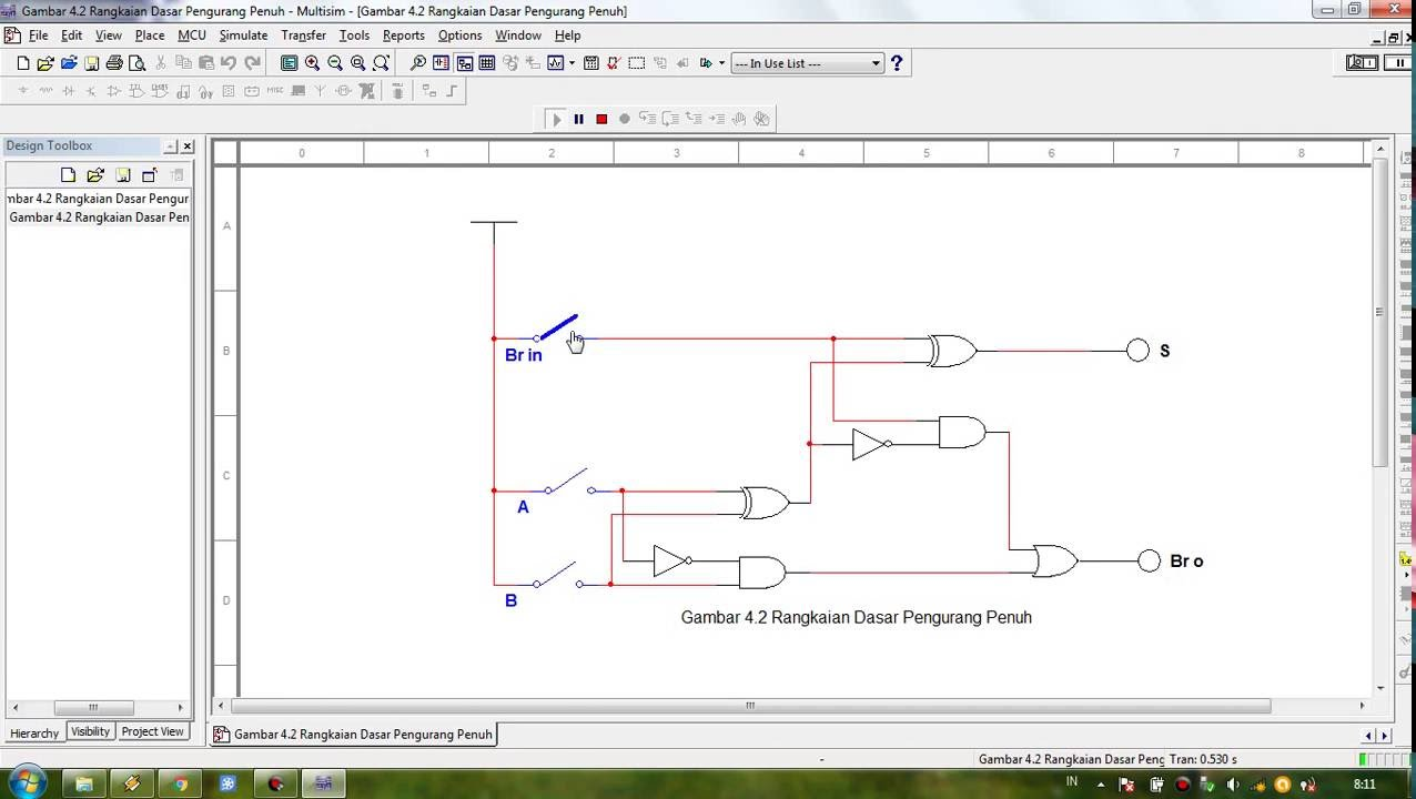 hight resolution of multisim tutorial full subtractor circuit