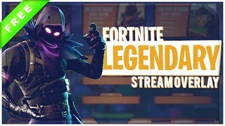 "Animated Fortnite Stream Overlay ""Legendary"" 