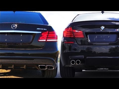 Mercedes E63 AMG vs BMW M5 F10 Review Impressions SOUND Onboard Acceleration Revs V8 Turbo W212 2014