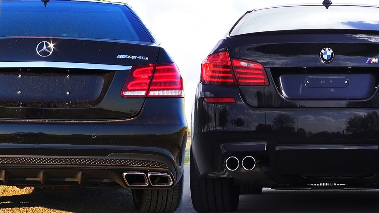 mercedes e63 amg vs bmw m5 f10 review impressions sound onboard