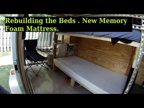 Rebuilding The Beds New Mattress 6x10 Enclosed Trailer