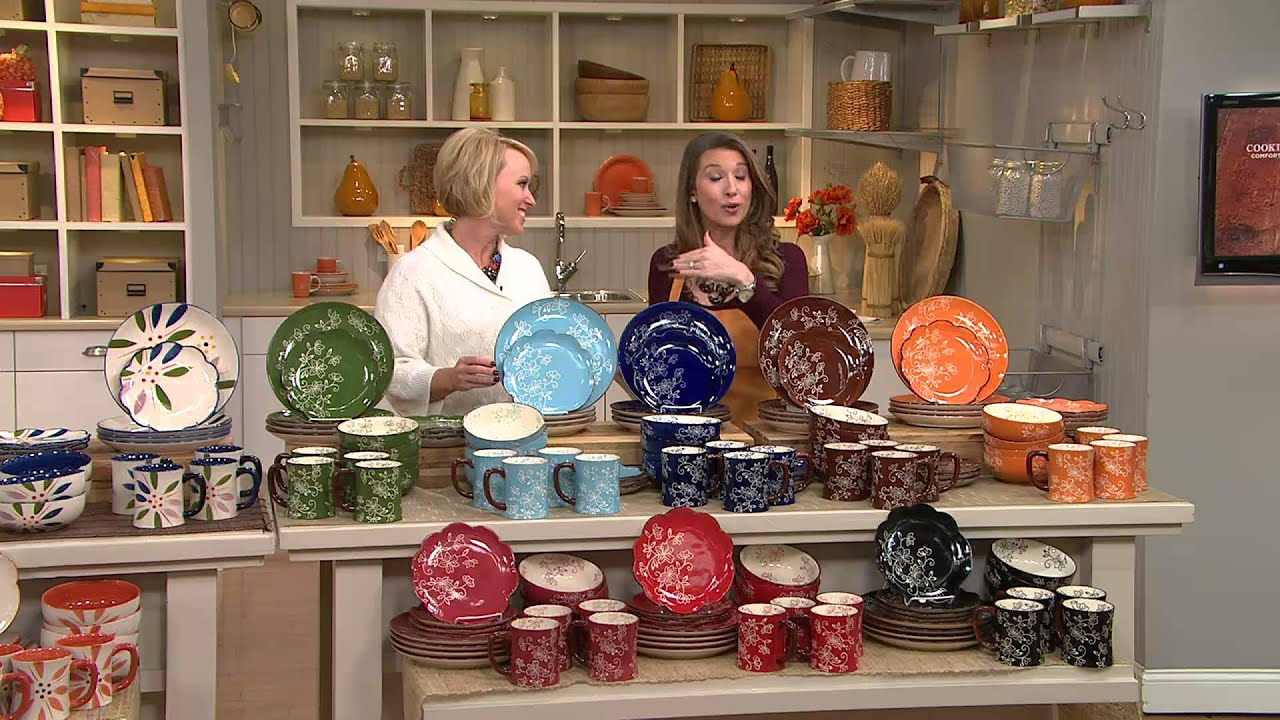 Temp-tations Hand Painted Stoneware 16-pc. Dinnerware Set with Nancy Hornback - YouTube  sc 1 st  YouTube & Temp-tations Hand Painted Stoneware 16-pc. Dinnerware Set with Nancy ...