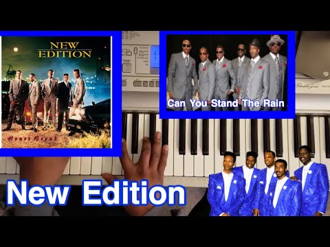 "New Edition "" Can You Stand The Rain"" (easy piano tutorial lesson)"