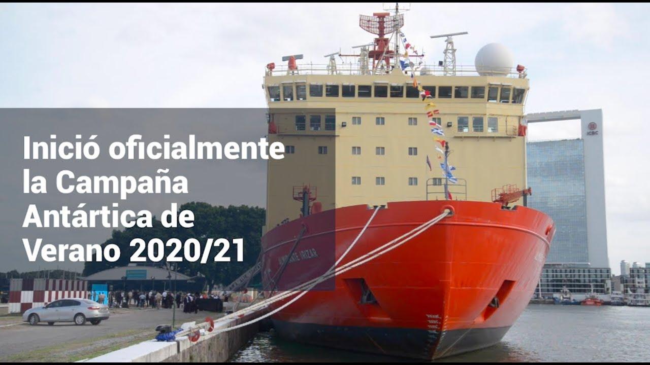 Inició oficialmente la Campaña Antártica de Verano 2020/21