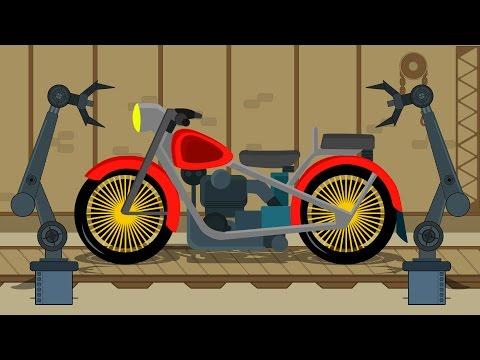Bike | Car Garage | Car Repairs | Video for Children & Babies