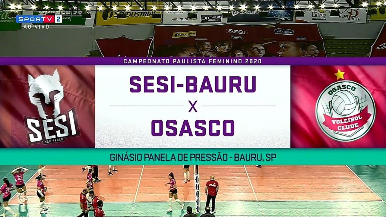 JOGO 2 SESI Bauru x Osasco | Paulista de Volei Feminino 2020 20.10.2020 [1080p Full HD]