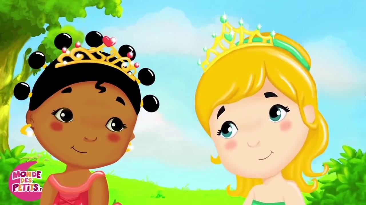 Comptines pour enfants les petites princesses 55 min de comptines et chansons youtube - Dessin anime les pingouins ...