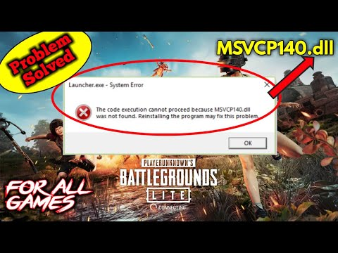 MSVCP140.dll Error! PUBG Problem Solved | Problem While Installing Game | How To Install PUBG LITE