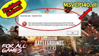 Gambar cover MSVCP140.dll error! PUBG problem solved | Problem while installing game | How to install PUBG LITE