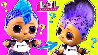 Скейти в ШОКЕ! У Панки настоящие волосы! Трансформация куклы ЛОЛ в салоне красоты. Мультик LOL dolls