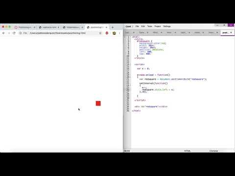 Positioning And Moving Elements On A Page (Intro To HTML/CSS/JavaScript)