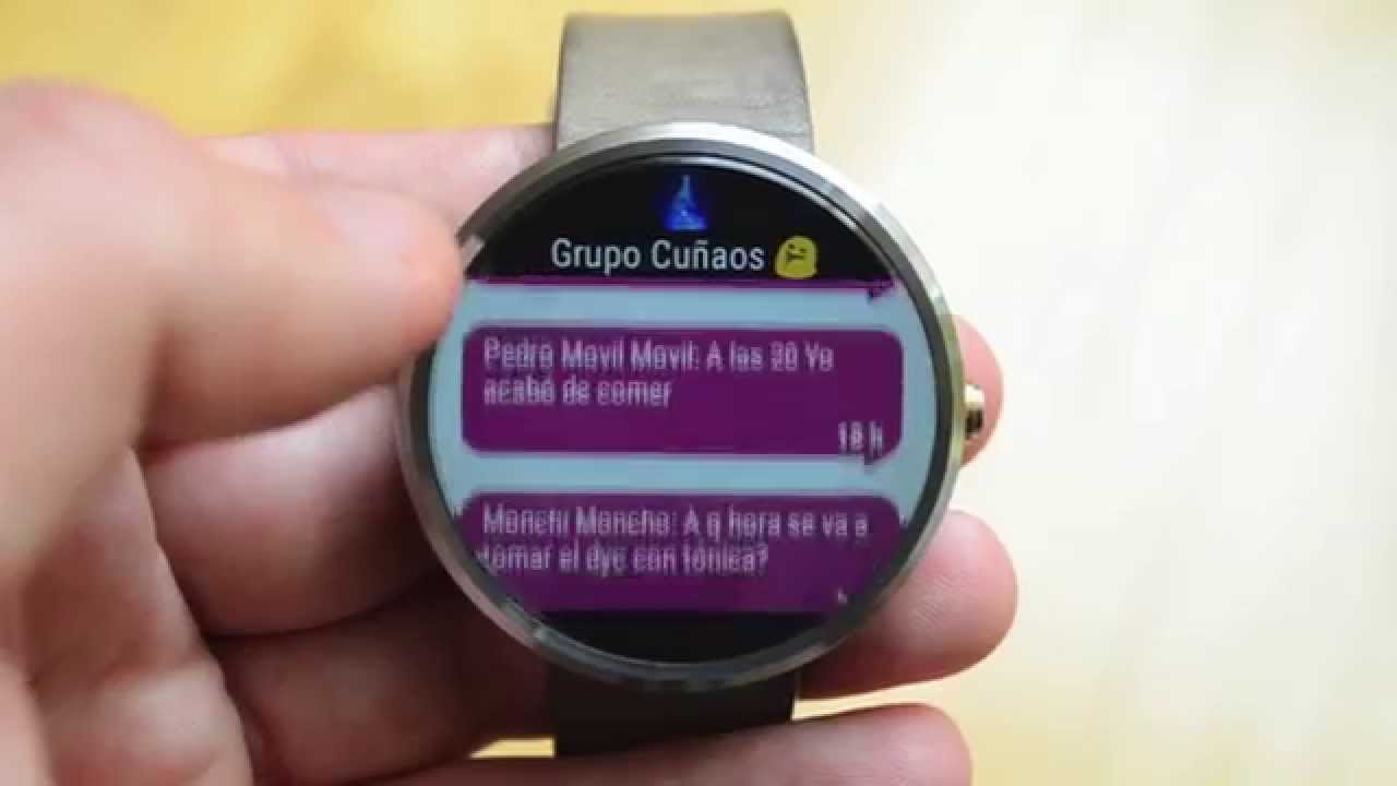 Watch videos WhatsApp on Android Wear - YouTube