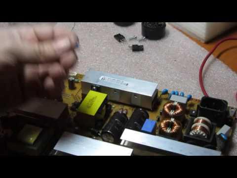 видео: Телевизор lg 42lk451-zg не включается. Ремонт.