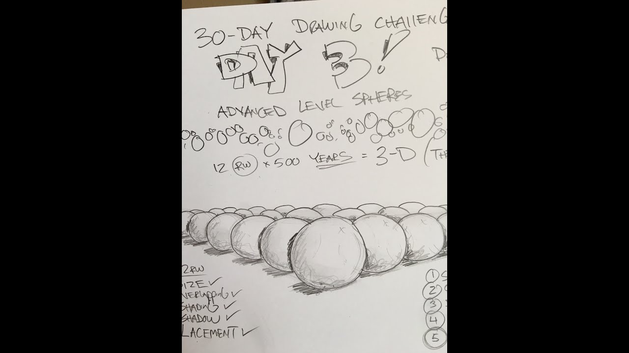 Day 3: Can Professor Bill Learn-To-Draw in 30-Days? - YouTube
