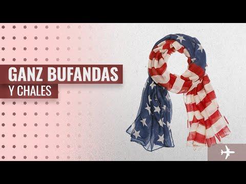10 Mejores Ventas Bufandas Y Chales De Ganz: Light American Flag Patriotic Scarf - By Ganz