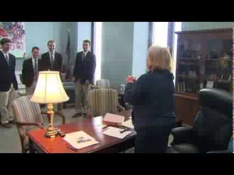 Heitkamp Gets a Surprise Birthday Serenade from the Georgetown Chimes