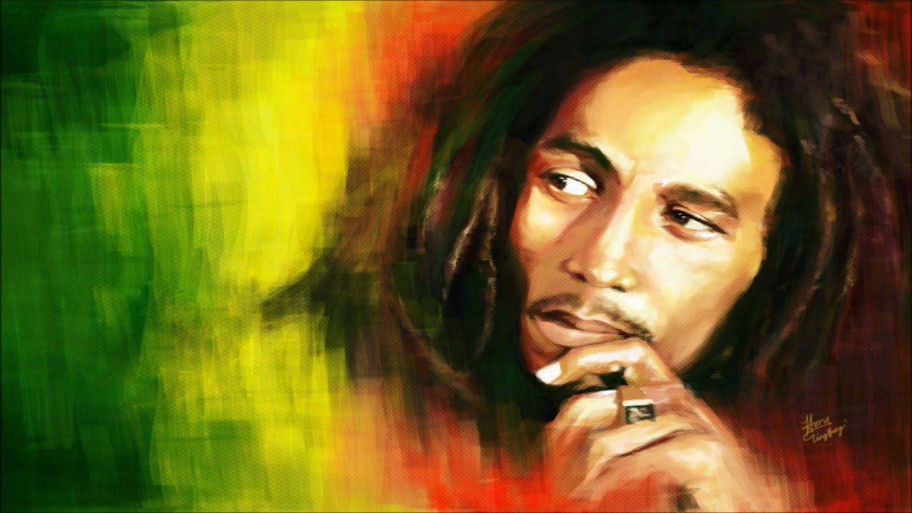 Bob marley smoking picture