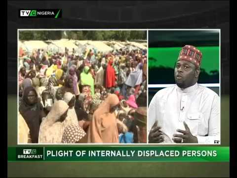 Grema Terab discuss on the plight of IDPs in Borno at TVC Talk Time