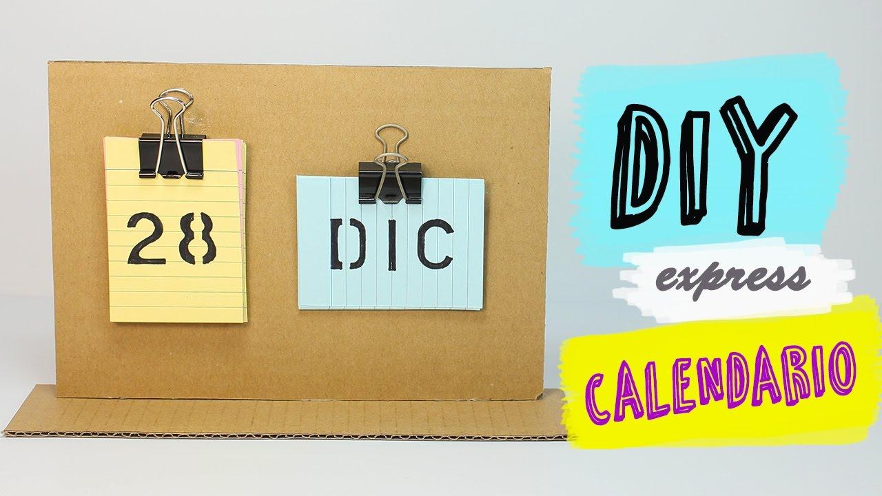 C mo hacer un calendario de mesa manualidades f ciles for Calendario manualidades